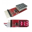 2S-6S Li-Po Battery Voltage Indicator Checker Tester