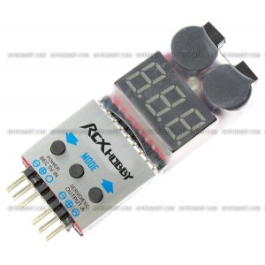 RCX 6-In-1 Multimeter Tester (Li-Po Voltage / Li-Po Alarm / Servo / ESC / PPM Signal / Temperature)