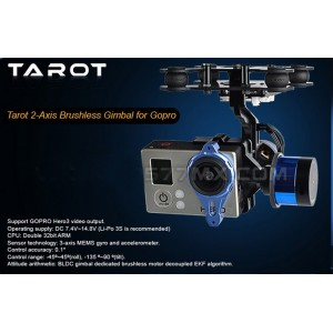 Tarot TL68A00 Brushless Gimbal w/Gyro 2-Axis Camera Mount FPV PTZ GoPro 3 Hero3