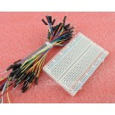 2pcs Prototype Board Electronic Deck 400  65pcs Breadboard tie line Jumper Cable