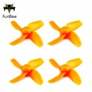 Комплект винтов FuriBee Four-blade  -  ORANGE (4шт)