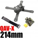 Гоночная рама Cross Racing Quadcopter With 4mm Arms for QAV-X 210 Pure Carbon Fiber