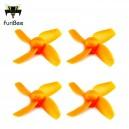 Комплект винтов FuriBee Four-blade  -  ORANGE (4шт)