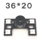 Светодиодная панель 4 светодиодами и c пищалкой